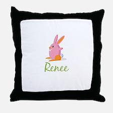 Easter Bunny Renee Throw Pillow