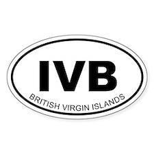 British Virgin Islands Oval Decal