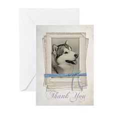 Malamute Thank You Card