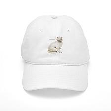 Odd-Eyed Turkish Angora Cat Baseball Cap