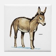 Donkey Animal Tile Coaster