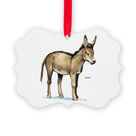 Donkey Animal Picture Ornament