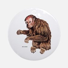 Red Uakari Monkey Ornament (Round)