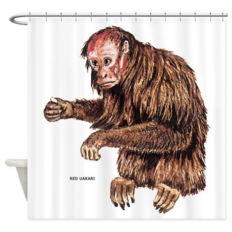 Red Uakari Monkey Shower Curtain By Animalartwork