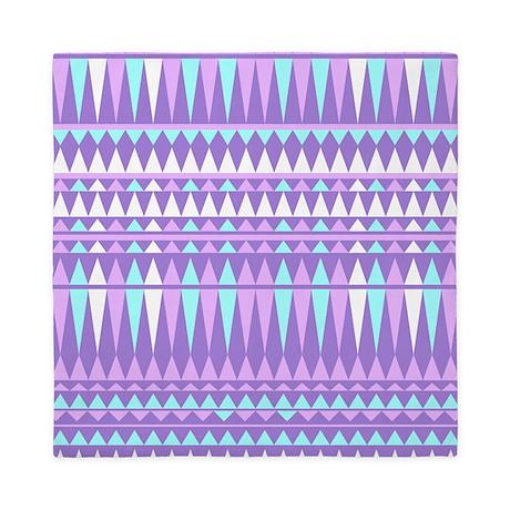 Purple Aztec, Queen Duvet