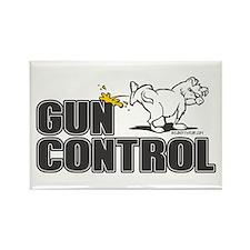 Piss on Gun Control Rectangle Magnet