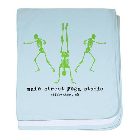 "Main Street Yoga Studio ""Skeletons"" baby blanket"