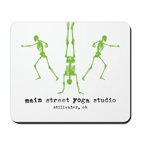 "Main Street Yoga Studio ""Skeletons"" Mousepad"