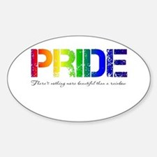 Pride Rainbow Sticker (Oval)