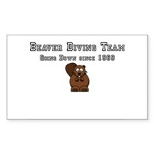 Beaver Diving Team Decal