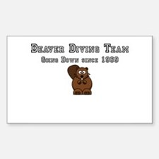 Beaver Diving Team Sticker (Rectangle)