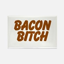 Bacon Bitch Rectangle Magnet