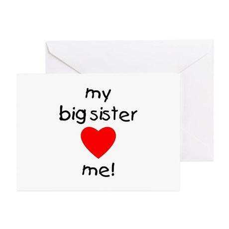 My big sister loves me Greeting Cards (Package of by
