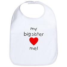 My big sister loves me Bib