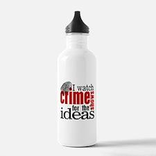Crime Show Ideas Water Bottle