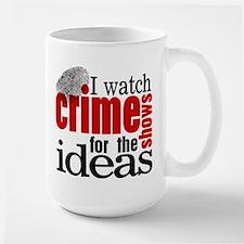 Crime Show Ideas Large Mug