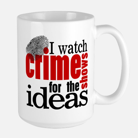 Crime Show Ideas Large Mug