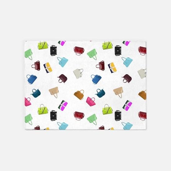 Colorful Handbags 5'x7'Area Rug