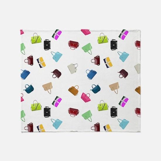 Colorful Handbags Throw Blanket