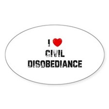 I * Civil Disobediance Oval Decal