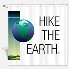 TOP Hike the Earth Shower Curtain