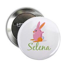 """Easter Bunny Selena 2.25"""" Button"""