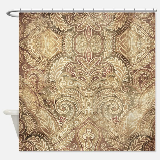 Oriental Vintage Pattern Shower Curtain