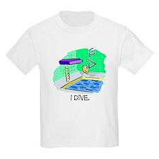Stick Figure Diving Kids T-Shirt
