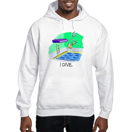 Stick Figure Diving Hooded Sweatshirt