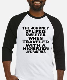 Traveled With Nigerien Life Partner Baseball Tee