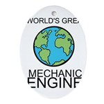 Worlds Greatest Mechanical Engineer Ornament (Oval
