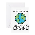 Worlds Greatest Mechanical Engineer Greeting Cards