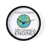 Worlds Greatest Mechanical Engineer Wall Clock