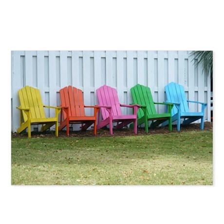 Beach / Adirondack Chairs Postcards (Package of 8)