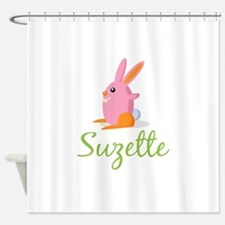 Easter Bunny Suzette Shower Curtain