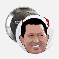 """Hugo Chavez Red Crown 2.25"""" Button"""