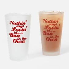 bun in the oven Drinking Glass