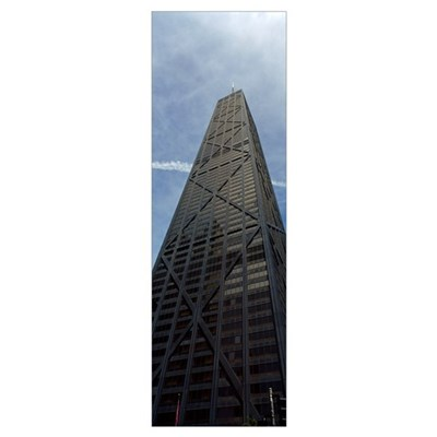 Low angle view of a building, Hancock Building, Ch Poster