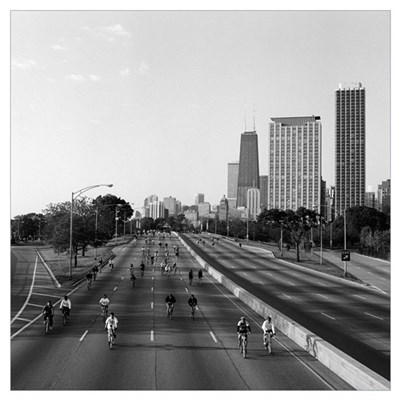 Bike The Drive, Lake shore Drive, Chicago, Cook Co Poster