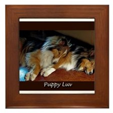 Puppy Luv Framed Tile