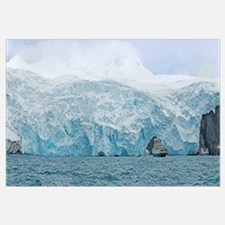Ship in front of a glacier, Point Wild, Elephant I
