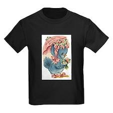 Vintage Easter Blue Bird Bonnet T-Shirt