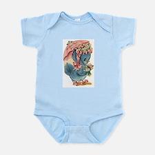 Vintage Easter Blue Bird Bonnet Body Suit