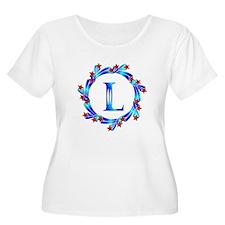 Blue Letter L Monogram T-Shirt