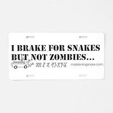 Brake for Snakes Not Zombies KS Aluminum License P