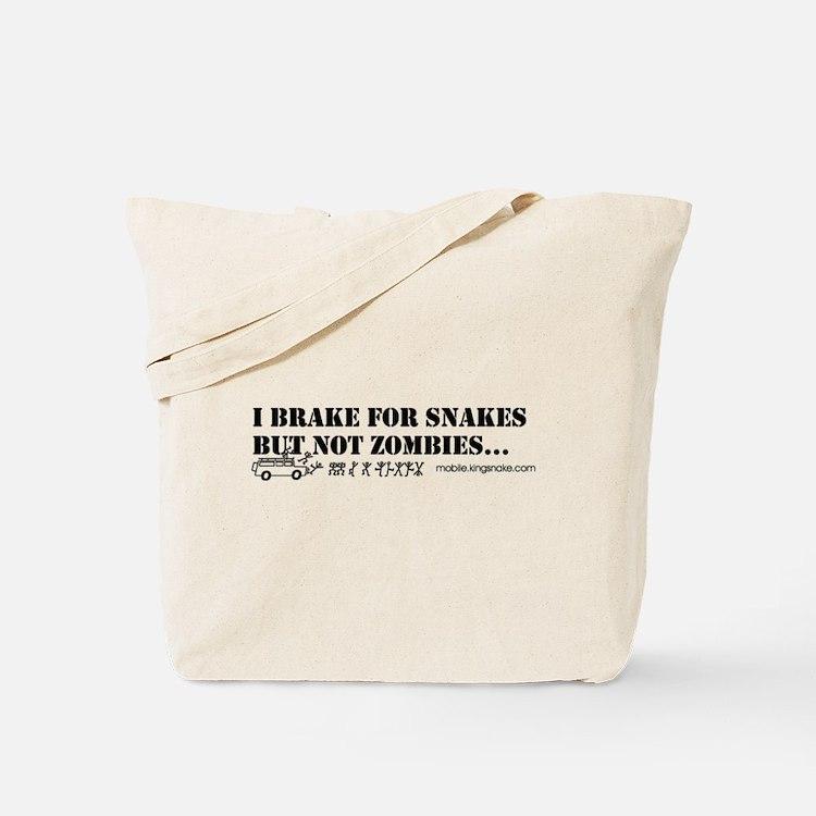 Brake for Snakes Not Zombies KS Tote Bag