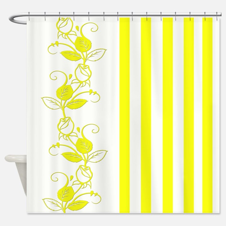 Yellow Roses Shower Curtains Yellow Roses Fabric Shower Curtain Liner
