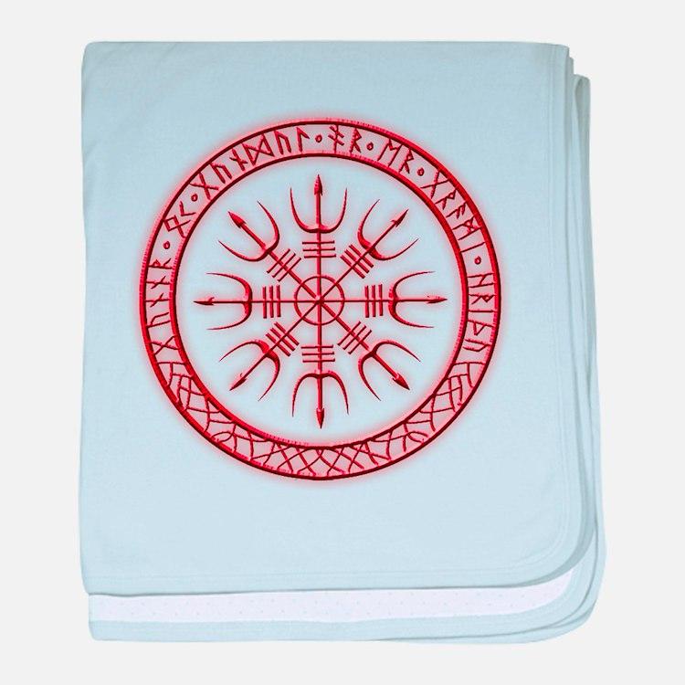 Aegishjalmur: Viking Protection Rune baby blanket