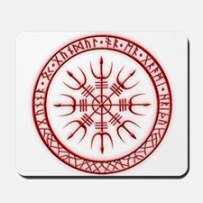 Aegishjalmur: Viking Protection Rune Mousepad