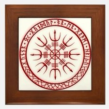 Aegishjalmur: Viking Protection Rune Framed Tile